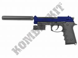 LS9 Beretta M9A1 Replica Gas Blowback Airsoft BB Gun 2 Tone Blue Black